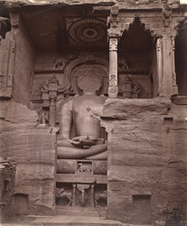 Colossal rock-cut sculpture of the Jain tirthankara Adinatha, Gwalior